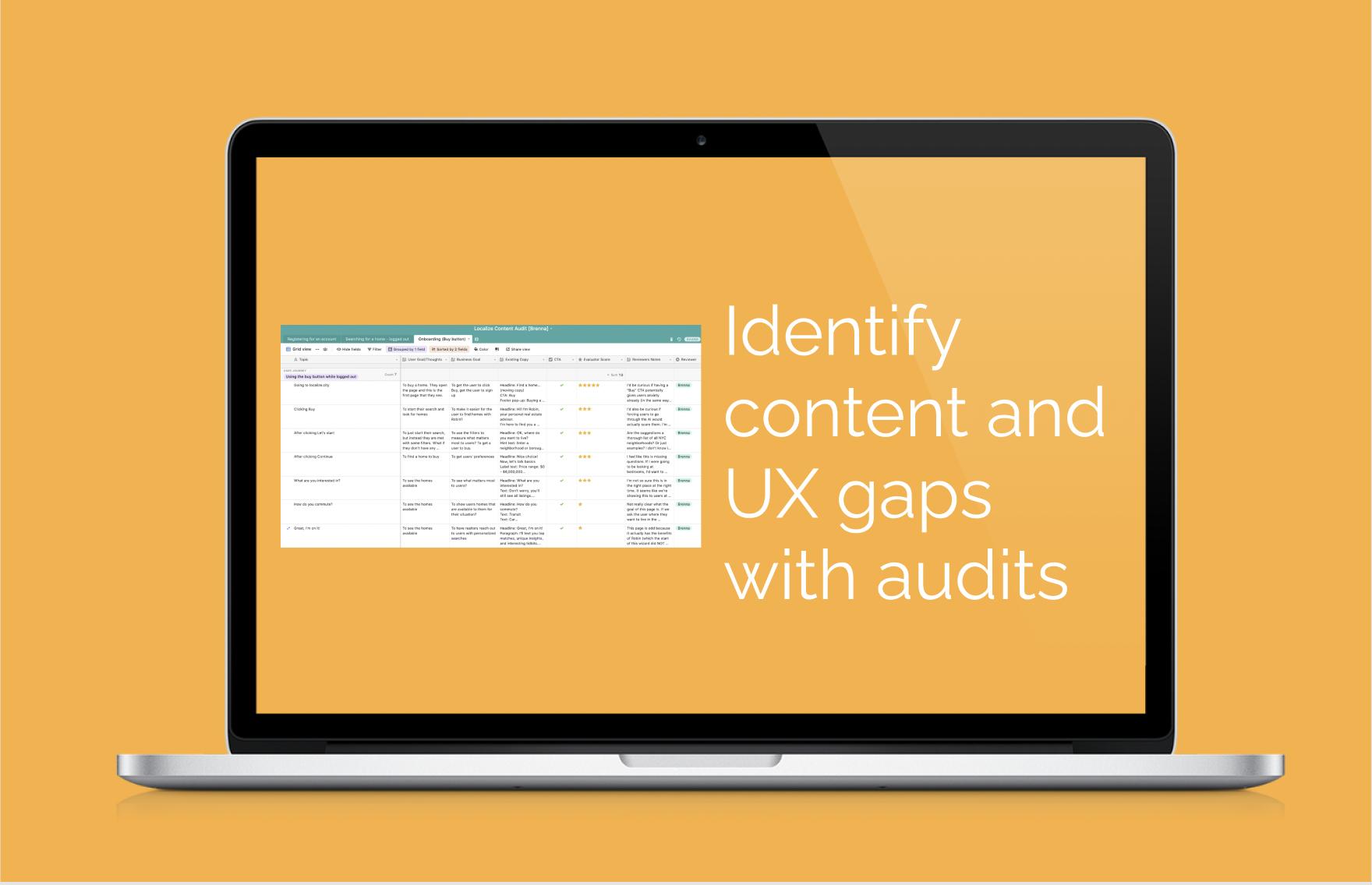 Content audit: Localize